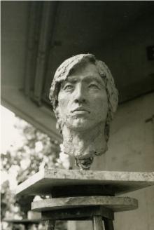 木曽君・塑像首(受験時代)