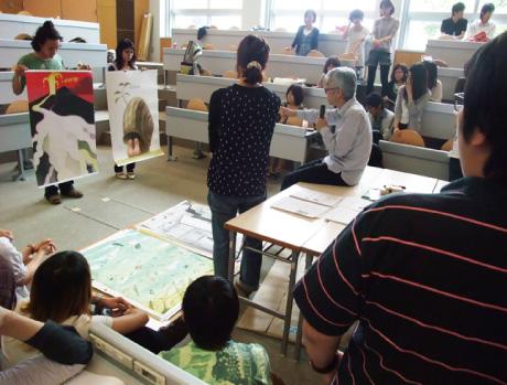 多摩美術大学授業・ポスター講評会(2009-06-12)