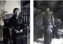 左:曾祖母 秋山タカ 右:祖父 秋山惣七