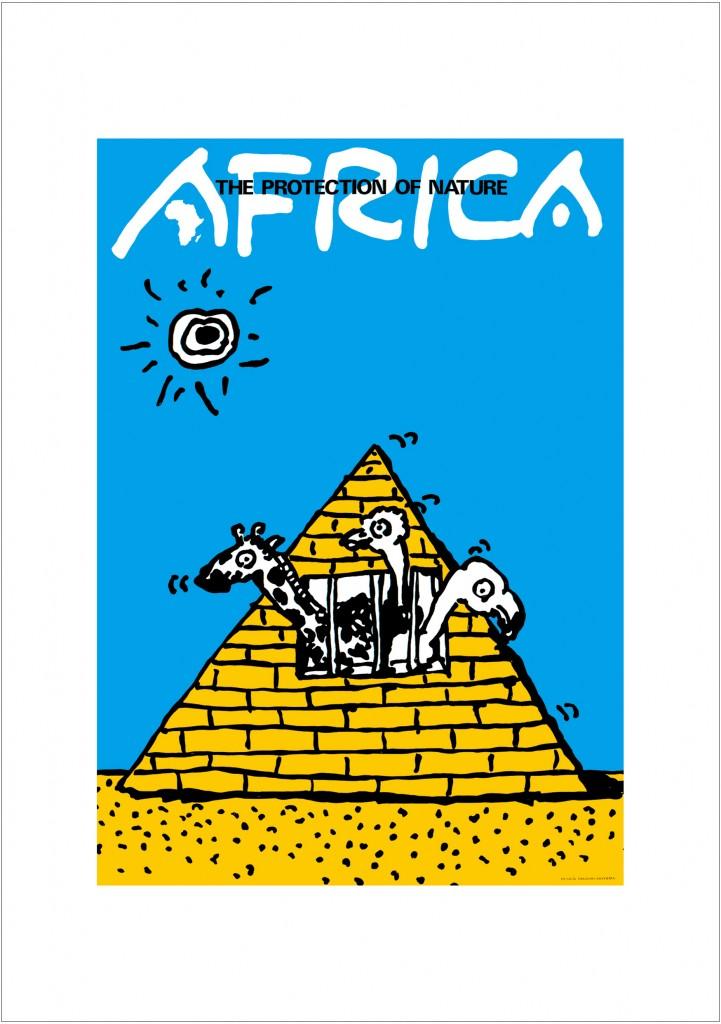 ポスターアーティスト秋山孝が1984年に制作したアートカード「アートカード ポスター 1984 04」
