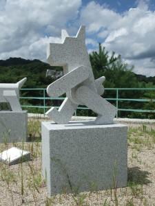 稲田石シリーズ「Dog(犬)」の展示風景14