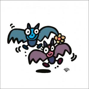 イラストレーター秋山孝が2008年に制作したイラスト「Mate 仲間」