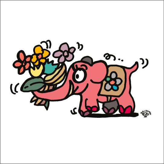 イラストレーター秋山孝が2008年に制作したイラスト「Delivery 配達」