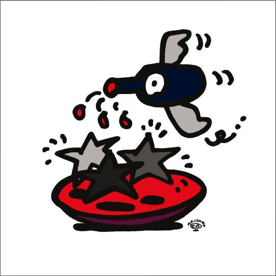 イラストレーター秋山孝が2008年に制作したイラスト「Seasoning 味付け」