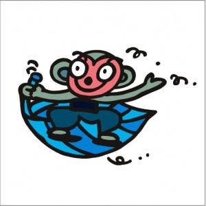 イラストレーター秋山孝が2008年に制作したイラスト「Songoku 孫悟空」