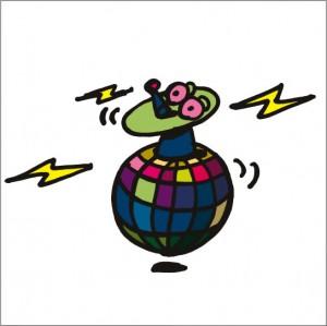 イラストレーター秋山孝が2008年に制作したイラスト「Antenna アンテナ」