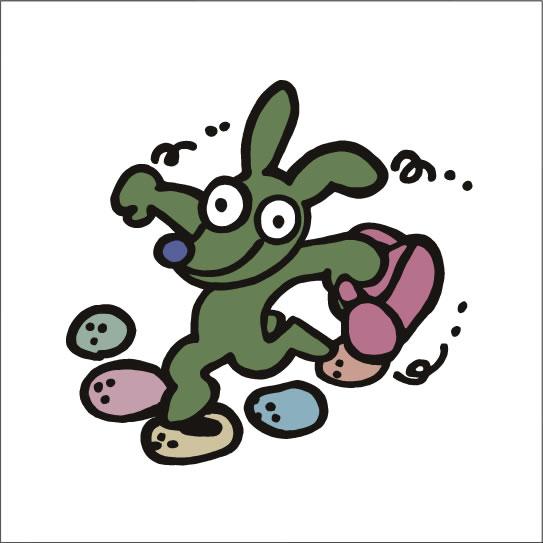 イラストレーター秋山孝が2008年に制作したイラスト「Skip スキップ」