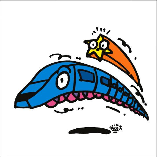 イラストレーター秋山孝が2008年に制作したイラスト「Speed スピード」