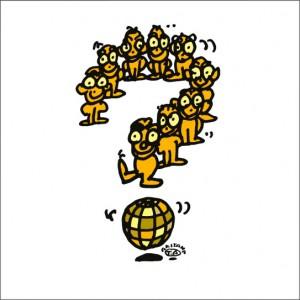 イラストレーター秋山孝が2008年に制作したイラスト「Mystery 謎」