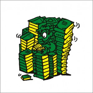 秋山孝が2008年に制作したイラスト「Treasure mountain 宝の山」