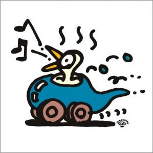 2009年に秋山孝が描いたイラスト「Optimist 楽天家」