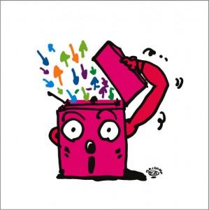 2008年に秋山孝が制作したイラスト「Brainstorming ブレーンストーミング」