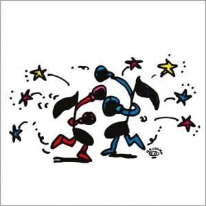 2008年に秋山孝により制作されたイラスト Ad-lib アドリブ