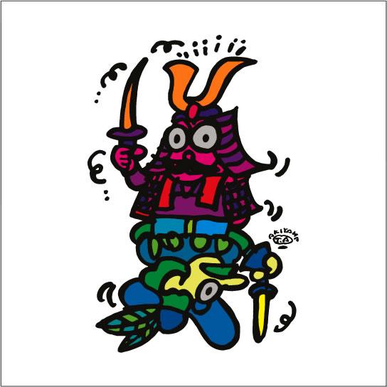 2008年に秋山孝により制作されたイラスト 「East-west 東西」