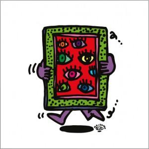 秋山孝が2009年に描いたイラスト「Visual art 視覚芸術」