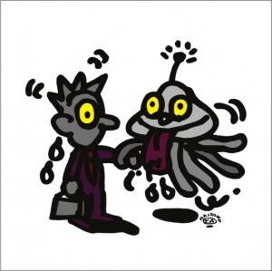 2008年に秋山孝によって描かれたイラスト「Nonnative 異邦人」