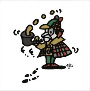2008年に秋山孝が描いたイラスト「Reasoning 推理」