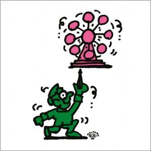 2008年に秋山孝により制作されたイラスト「Fate 運」