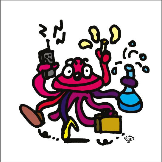 2008年に秋山孝が描いたイラスト「Multifunction 多機能」