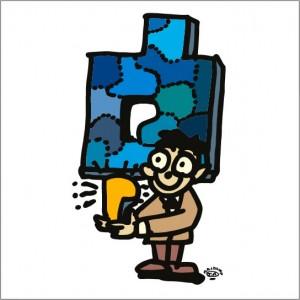 2008年に秋山孝が制作したイラスト「Key 鍵」