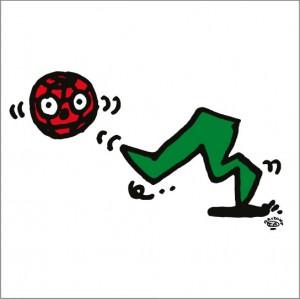 2008年に秋山孝が制作したイラスト「Leap 飛躍」