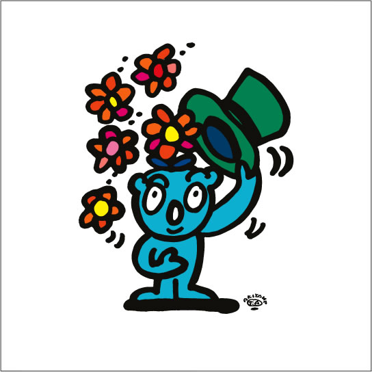 2008年に秋山孝が制作したイラスト「Jugglery 手品」