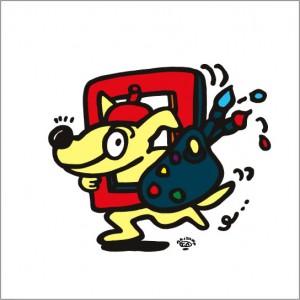 2008年に秋山孝によって制作されたイラスト「Artist 芸術家」