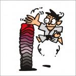 2008年に秋山孝により制作されたイラスト「Karate 空手」