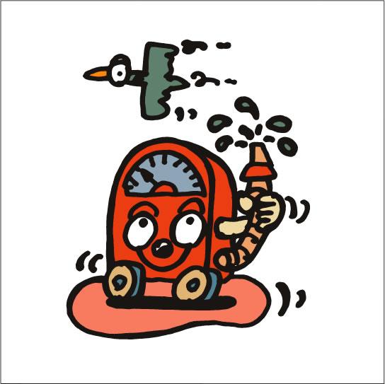 2008年に秋山孝により制作されたイラスト「Gas station ガソリンスタンド」