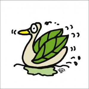 2008年に秋山孝が制作したイラスト「Lake 湖」