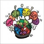 2008年に秋山孝により制作されたイラスト「Gathering 集合」