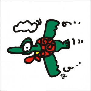 イラストレーター秋山孝が2009年に制作したイラスト「Migratory bird 渡り鳥」