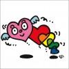 イラストレーター秋山孝が制作したイラスト「Heartbeat 心臓の鼓動」