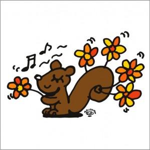 イラストレーター秋山孝が2009年に制作したイラスト「Autumn 秋」