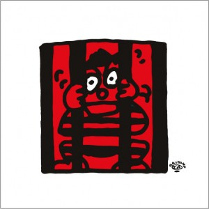 イラストレーター秋山孝が2009年に制作したイラスト「Insect cage 虫かご」