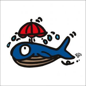 イラストレーター秋山孝が2009年に制作したイラスト「See breeze 潮風」