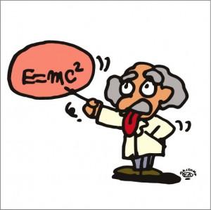 秋山孝が2009年に制作したイラスト「E=mc2 特殊相対性理論」