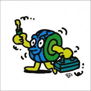秋山孝が2009年に制作したイラスト「Check チェック」