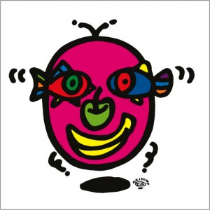 秋山孝が2009年に制作したイラスト「Face 顔」