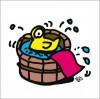秋山孝が2009年に描いたイラスト「Spa 温泉」