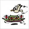 秋山孝が2009年に制作したイラスト「Banquet 宴」