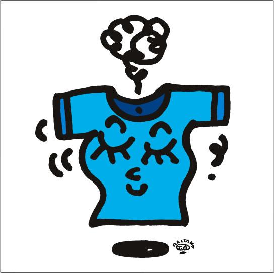 秋山孝が2009年に描いたイラスト「Breeze そよ風」