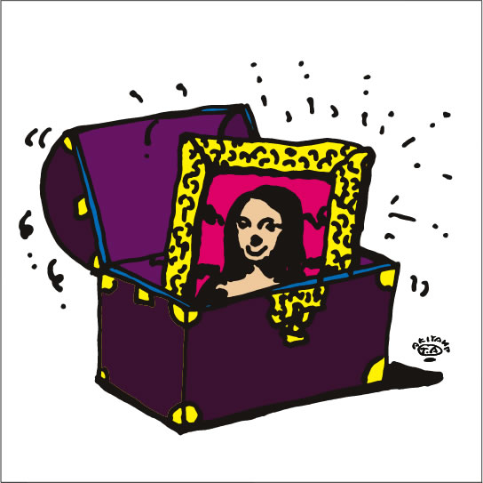 秋山孝が2009年に描いたイラスト「Treasure 宝物」