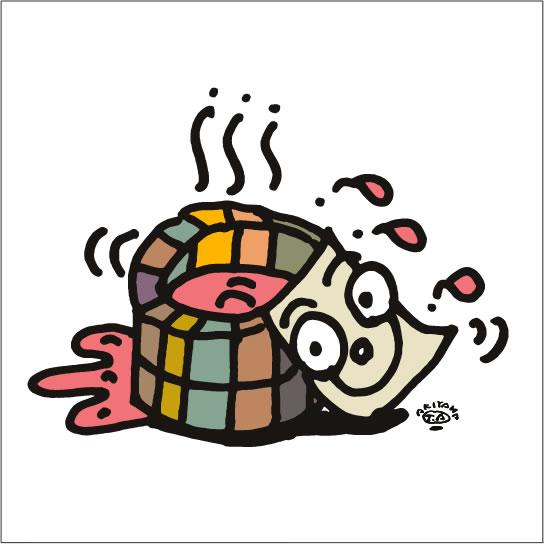 秋山孝が2009年に制作したイラスト「Tub 桶」
