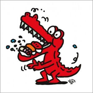 秋山孝が2009年に描いたイラスト「Gluttony 大食い」