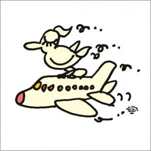 秋山孝が2009年に描いたイラスト「Sky 空」