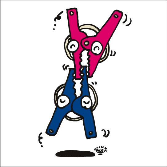 秋山孝が2009年に描いたイラスト「Agreement 合致」