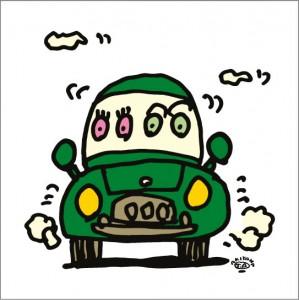 秋山孝が2009年に制作したイラスト「Kill time 暇つぶし」
