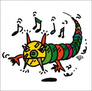秋山孝が2009年に制作したイラスト「CDR-monster CDR怪獣」