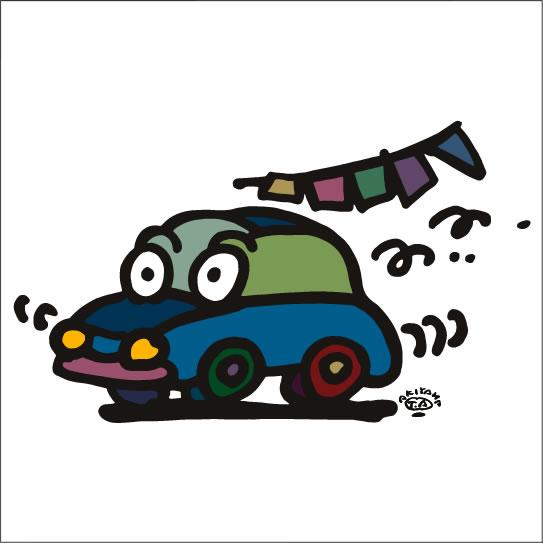2009年に秋山孝が制作したイラスト「Jalopy ぽんこつ車」